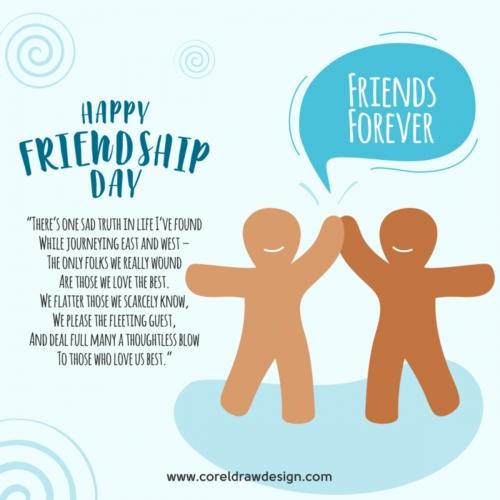 friendship day flat design vector background