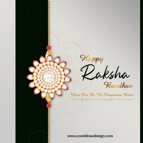 Happy Raksha Bandhan Indian Festival Design