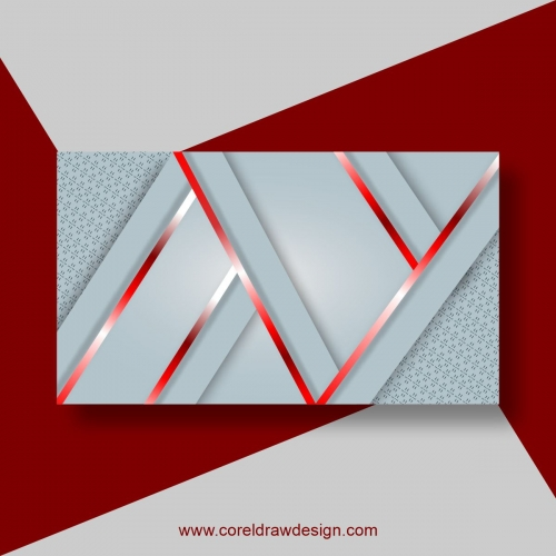 Abstract Lines Background With Red Geometric Shapes