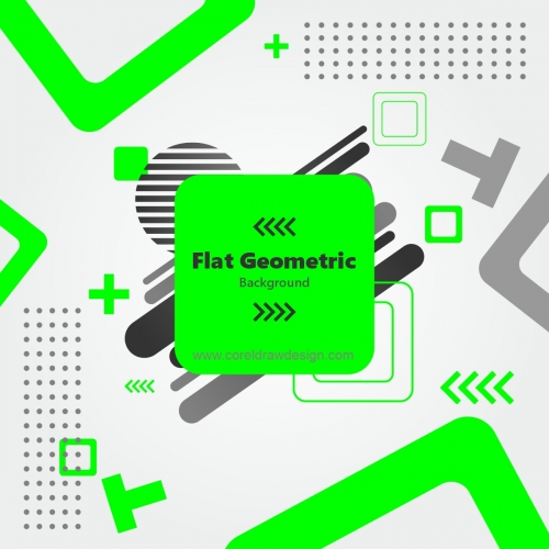 Flat Geometric Shapes Wallpaper Free Vector Background
