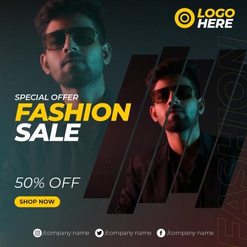 Fashion sale banner template instagram post