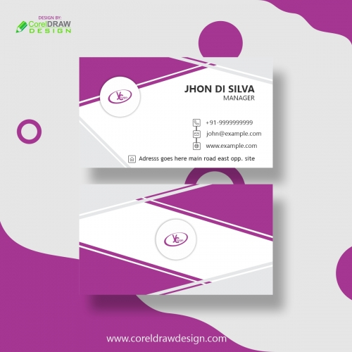 Business Card With Abstract Detail Free Vector Design