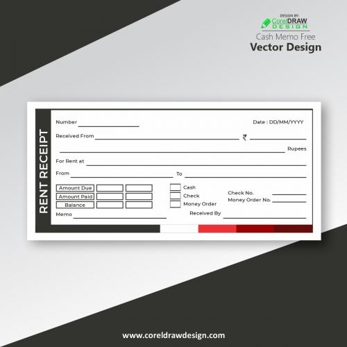 Rent Receipt Template Vector Design