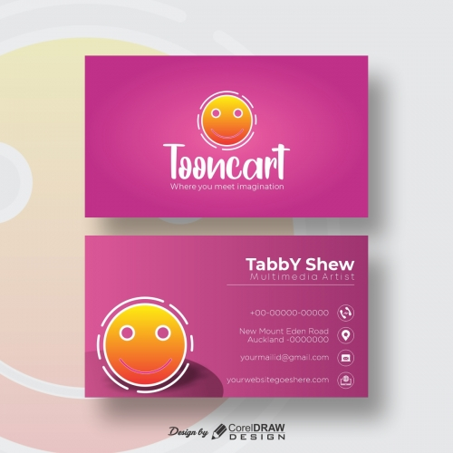 ToonCart Simple Business Card Free Template