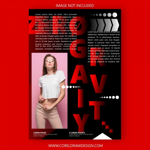 Fashionable Magazine Cover Template