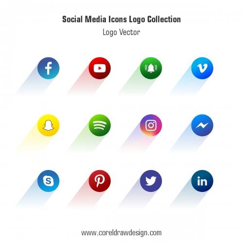 Social Media Icons Logo Collection