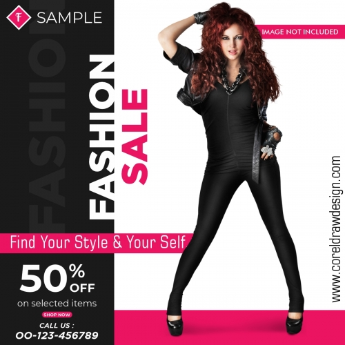 Fashion Sale Social Media Post Template Design