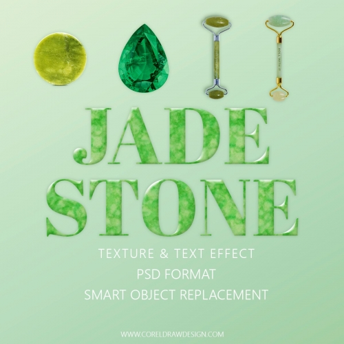 Royal Jade Stone Texture and text effect