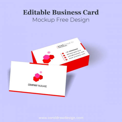 Editable Business Card Mockup Free Design