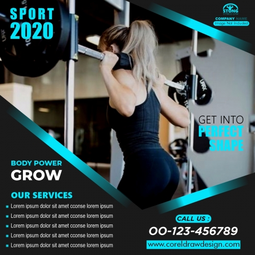 Fitness Gym Social Media Post Banner Story Template