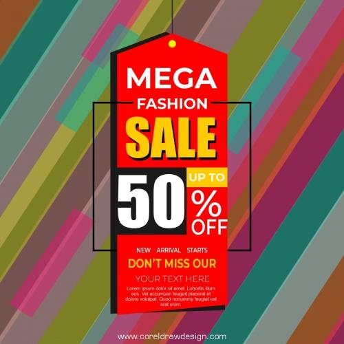 Mega Sale Banner Vector Design