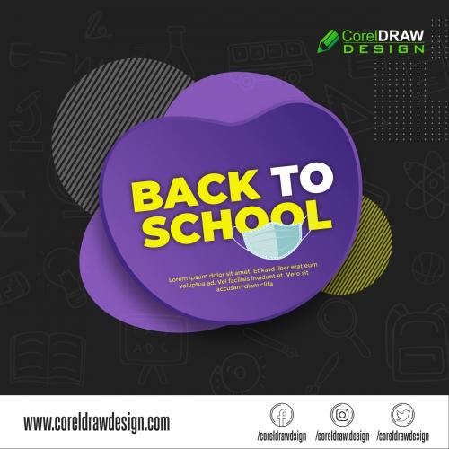 Back to School Banner Vector Design