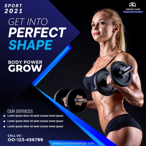 Fitness Gym Social Media Post Banner Template