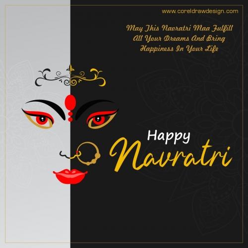 Happy Navratri Durga Pooja Indian Festival Design