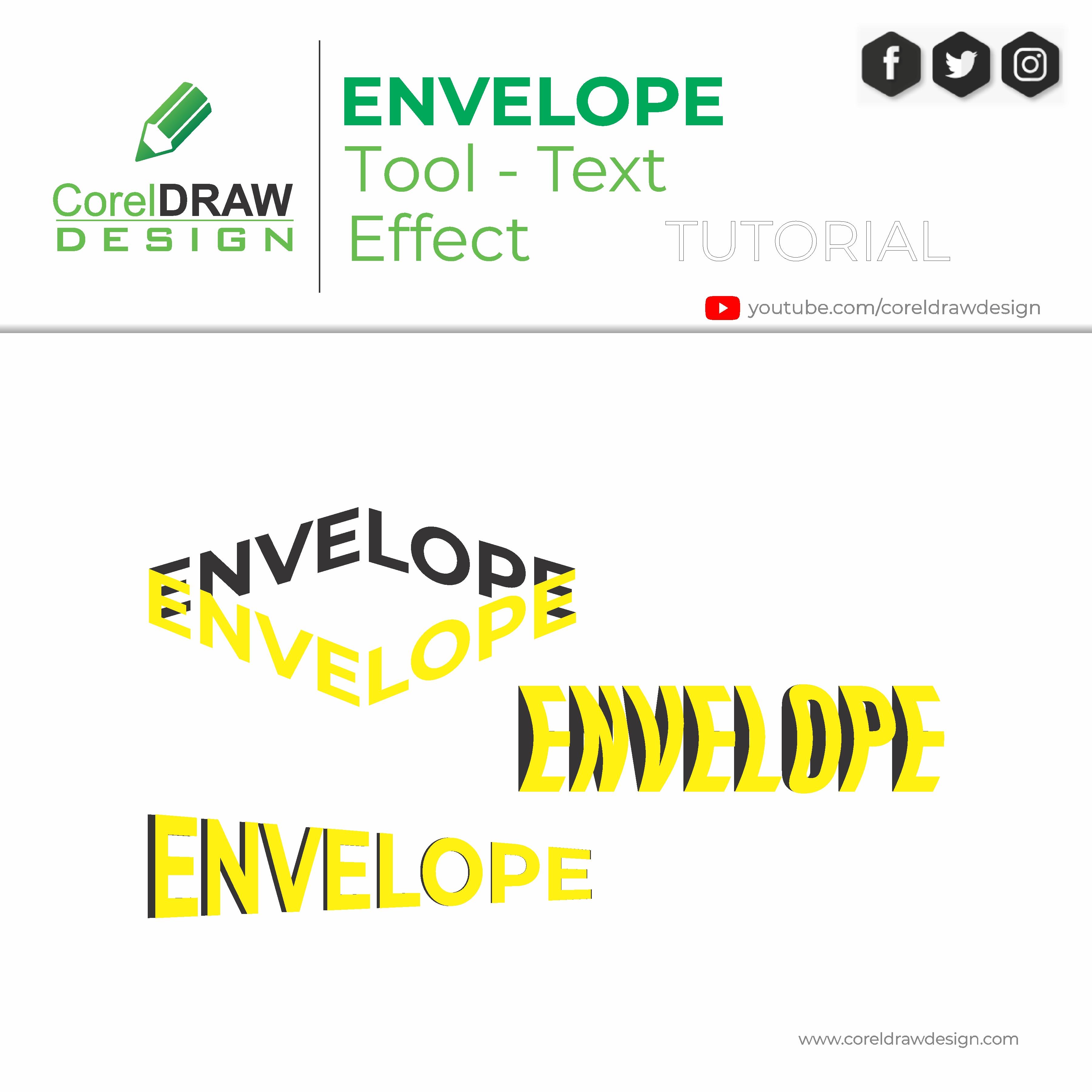 Coreldraw   Best use of Envelope tool   Digital Graphics   Tutorial   Coreldraw for Beginners