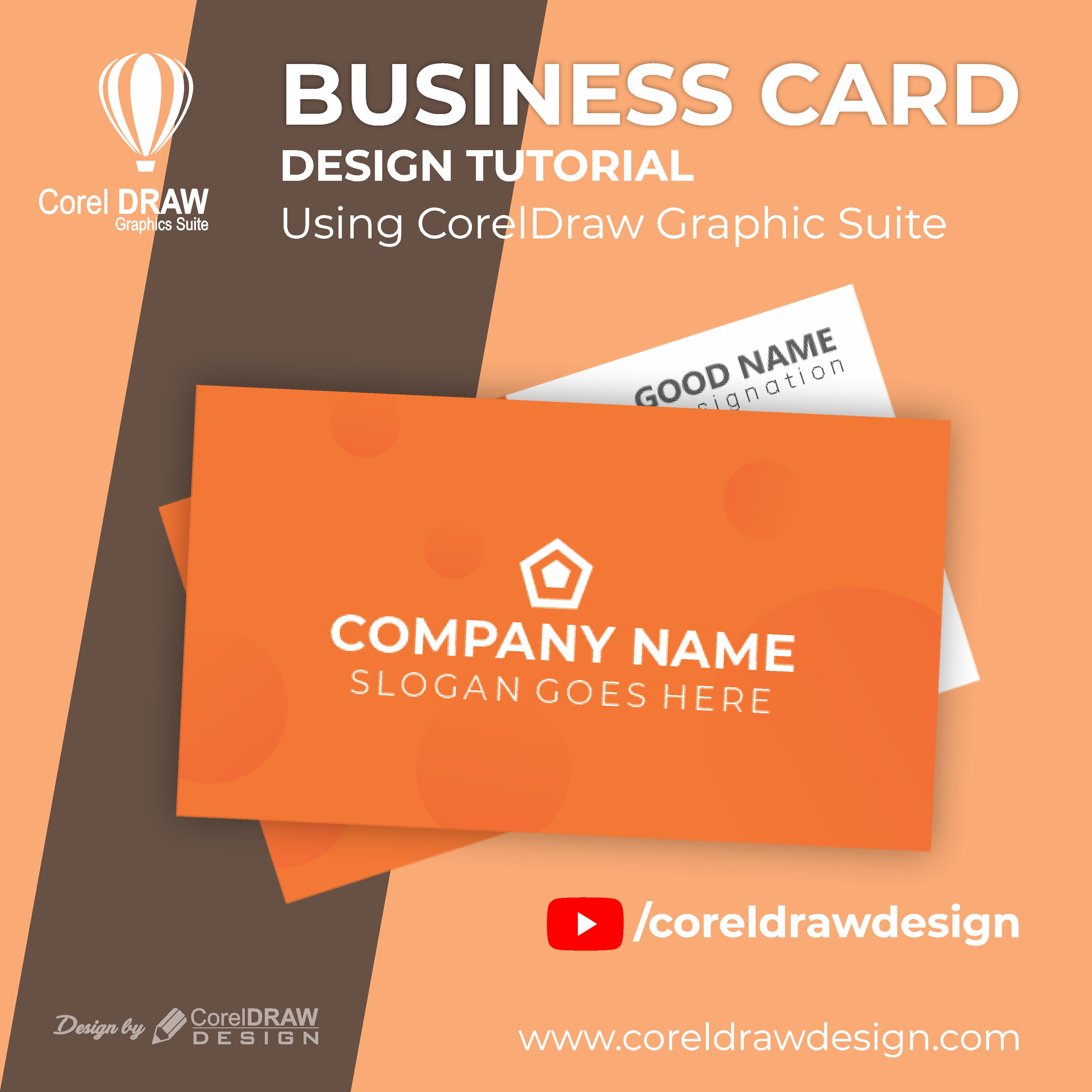 Creating From Scratch Creative Business Card   Digital Graphics   Tutorial   Coreldraw for Beginners
