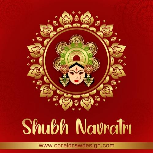 Happy Durga Puja Subh Navratri Happy Dussehra Festival Indian Religious Banner Background Premium Vector
