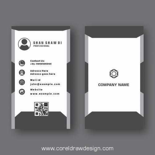 Elegant Minimal Black And Grey Business Card Template