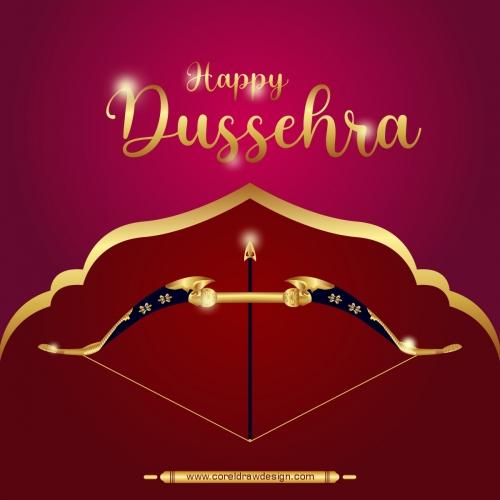 Happy Dussehra Festival Rama Ravana With Ten Heads Premium Vector