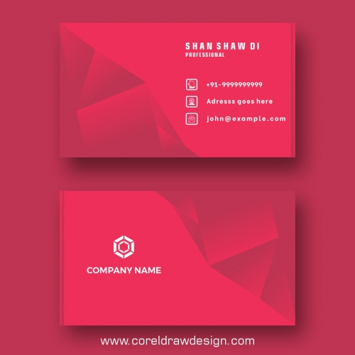 Neon Red Business Card Template Free Vector