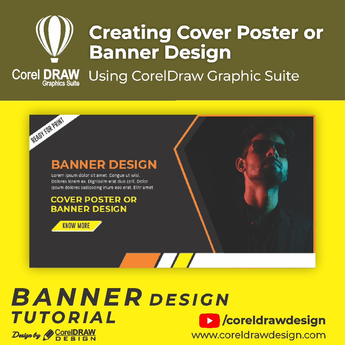 Creating Cover Post or Banner Design Digital Graphics Tutorial Coreldraw for Beginners