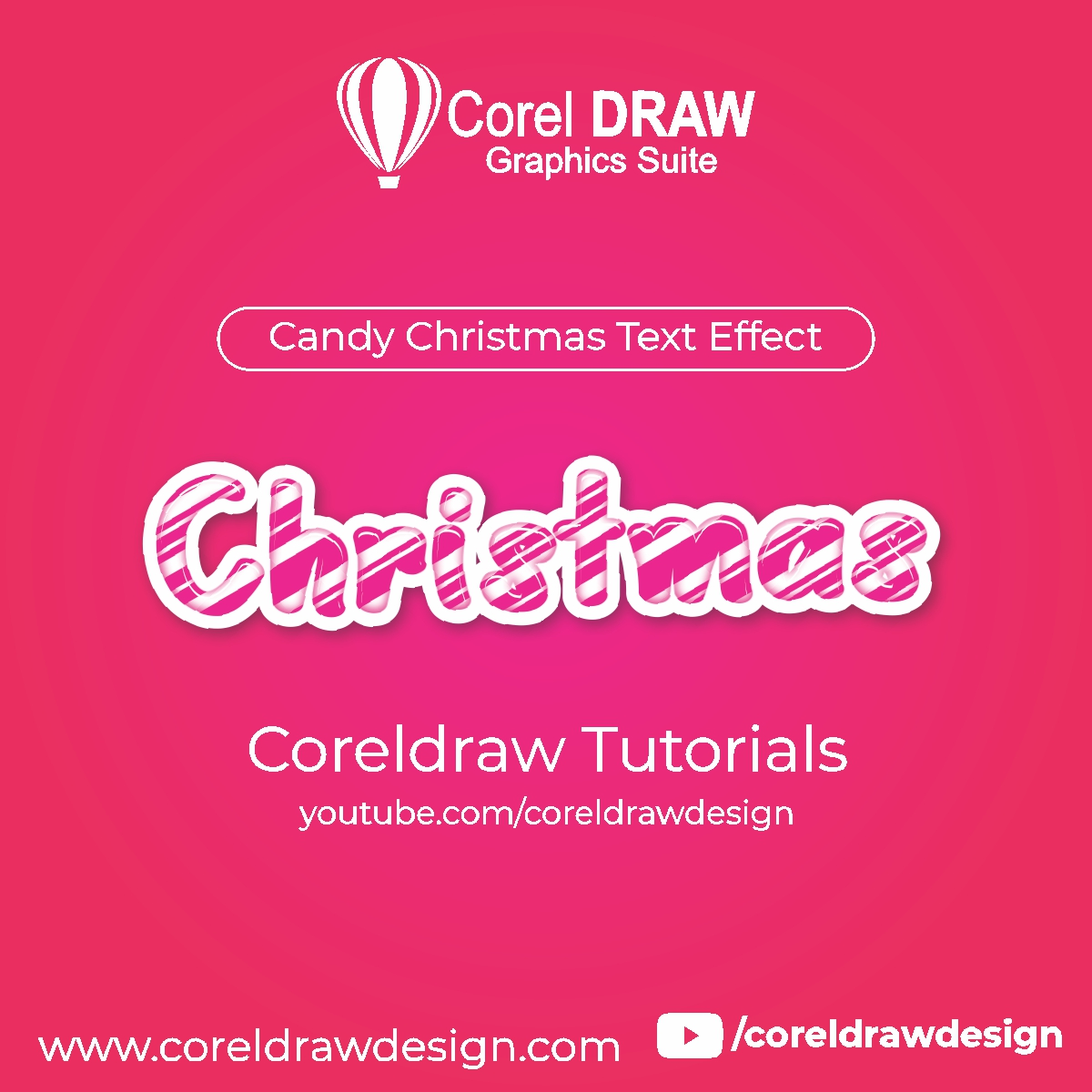 Creating - Candy Christmas Text Effect - Digital Graphics - Tutorial Coreldraw for Beginners