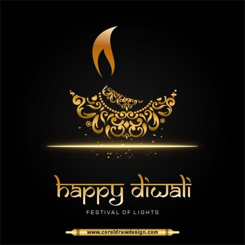 Happy Diwali Festival Beautiful Diya Background Free Vector