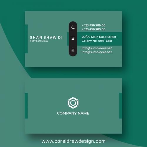Colorful Business Card Mock Up Design