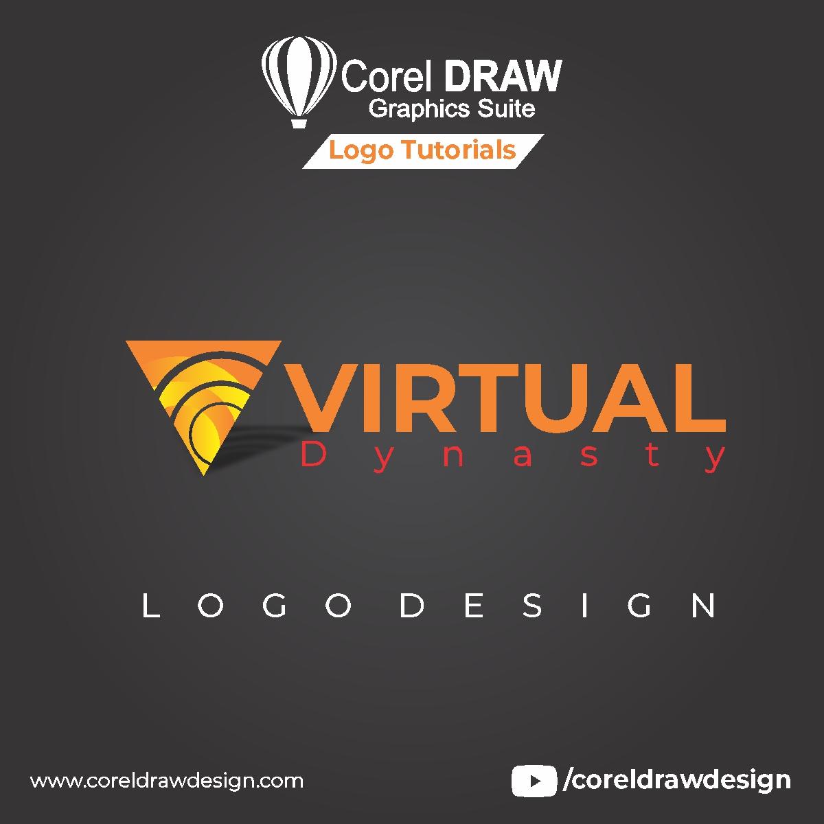 CorelDraw V Logo Tutorial, V Logo Design Digital Graphics Tutorial Coreldraw for Beginners