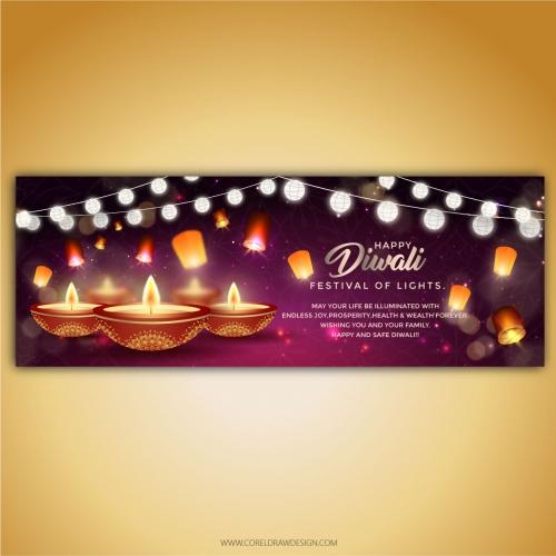 Royal Luxury Diwali Banner Template