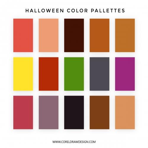 Halloween Color Pallettes Set