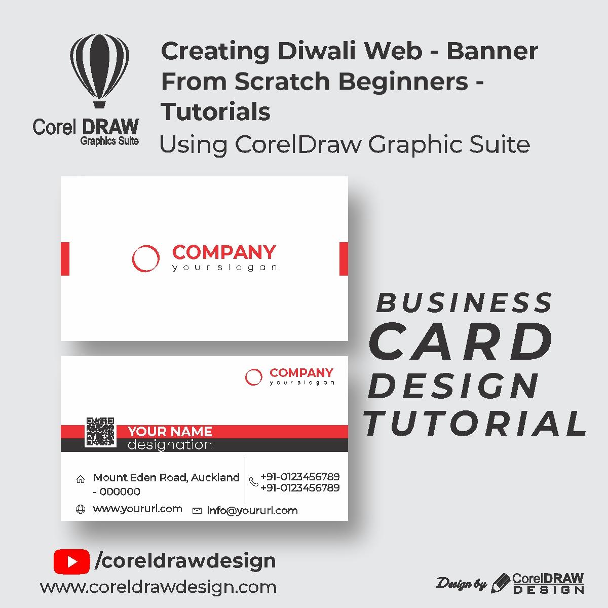 Coreldraw Flat Business Card - Basic Tutorials - Digital Graphics - Beginners Class - Tutorial