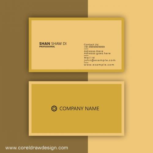 Creative Business Card Design Template Premium Vector