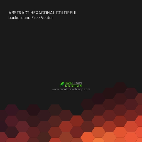 Abstract Hexagonal Colorful Background Free Vector