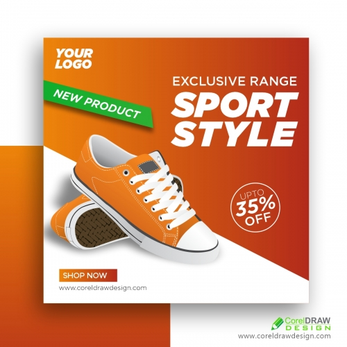 Shoes Promotion Social Media Post Banner Template Free Vector