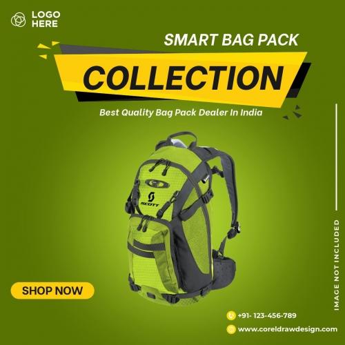 Bag Sales Social Media Post Banner Template Free Cdr Premium