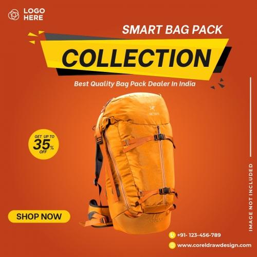 Bag Sales Social Media Post Banner Template Free Premium