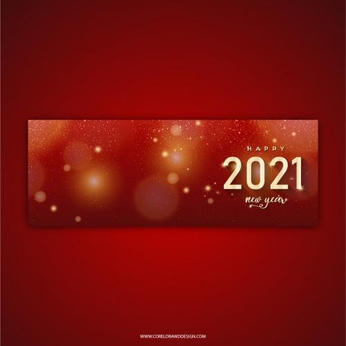 Premium Luxury New Year 2021 Banner