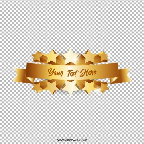 Golden Label Showcase Premium Vector