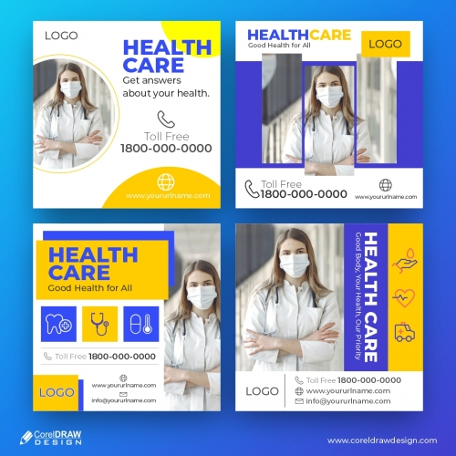 Health Care, Medical Social Media banner Template Collection