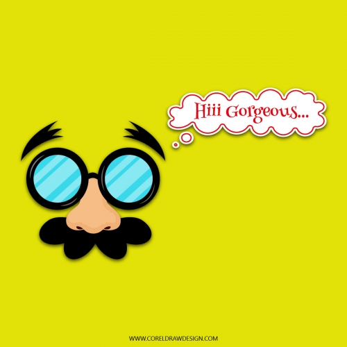 Funny Man With Moustache Vector illustration