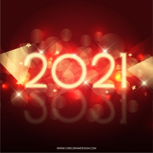 New Year 2021 lettering card