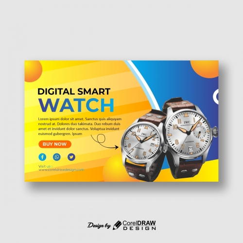 Watch banner sale Prime template Free CDR Template