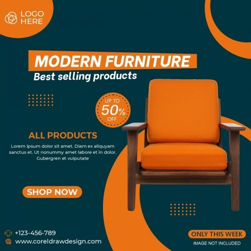 Furniture Sale Banner Template Free Design