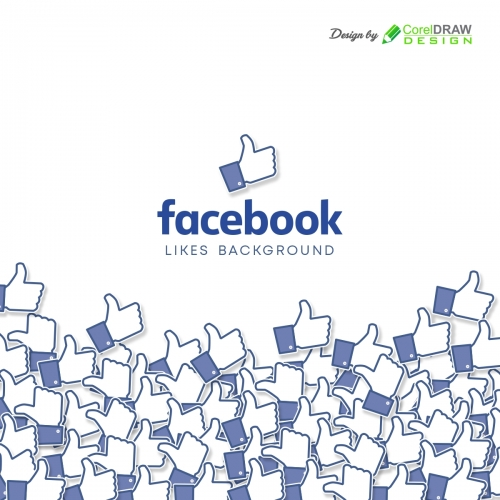 Facebook Background with Likes, Free CDR
