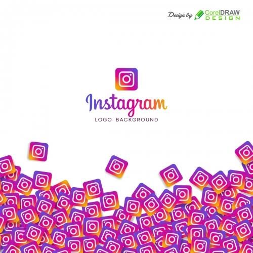 Instagram Logo Background, Free CDR