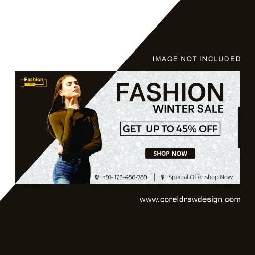 Fashion Winter Sales Banner Free Design