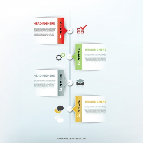 Step By Step Infographic Elements