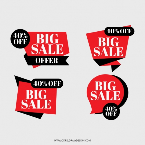 Shopping Big Sale Ribbon Vector