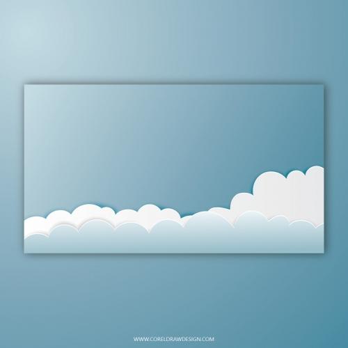 Cloudy Papercut Background
